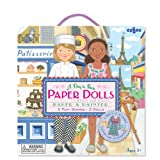 Stand-Up Paper Dolls with Re-usable Stickers and Double-Sided Play Scene, in Baker and Painter