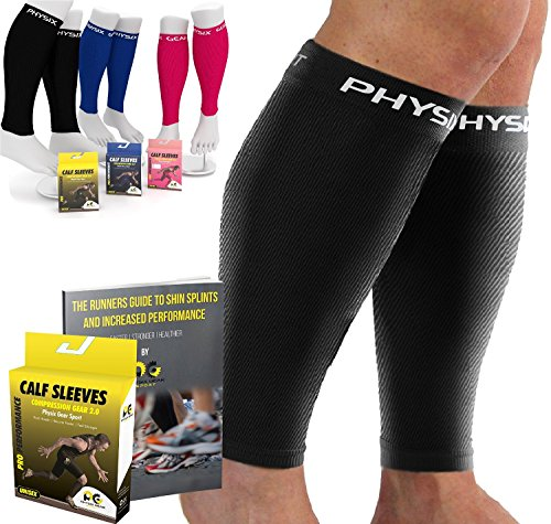 Calf-Compression-Sleeve-for-Men-Women-Best-Footless-Socks-for-Runners-Calves-Leg-Cramps-Shin-Splints-Circulation-Remedy-Support-Stockings-Running-Gear-Basketball-Lycra-tights-Free-Ebook