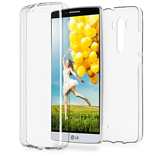 Doppia cassa come nome del LG G3 | Trasparente Custodia in silicone copre l'intero | Thin 360° completa casi di smartphone per OneFlow | Quarta di copertina in Incolore