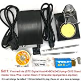 Soldering QUICKO 2019 New STC Digital Soldering Iron Station+T12 Handle+T12-K+BCM2+Iron Stand+Solder Core Wire+Carton Rosin+Sponge kits - (Color: Set1 C012 Kits, Plug Type: CN) (Color: Set1 C012 Kits / CN)