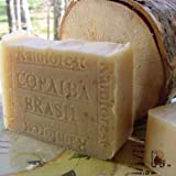 Handcrafted Brazilian Rain Forest Copaiba Soap with (Acai Berry Butter) & Tree Leaves ~ Natural Handcrafted...