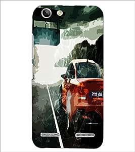 PrintDhaba Car D-4863 Back Case Cover for LENOVO LEMON 3 (Multi-Coloured)