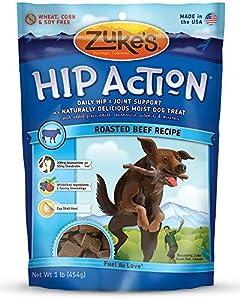 Zuke's Hip Action Natural Dog Treats Fresh Beef Recipe (Pack of 3)