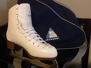 Jackson Glacier Ice Skates - GS350 Womens White Figure Ice Skates