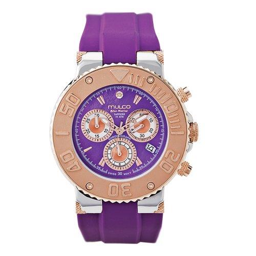 Mulco Homme & Femme 40mm Chronographe Violet Plastique Bracelet Montre MW3-70602-053