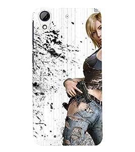 PRINTSWAG ACTION GIRL Designer Back Cover Case for HTC DESIRE 626S