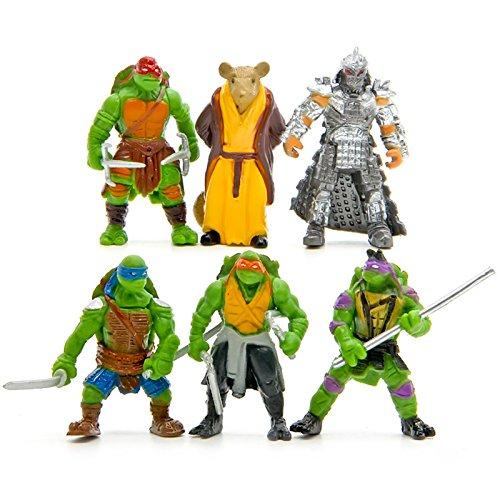 YoYoBoo 2016 6Pcs/lot Classic Collection Model TMNT Teenage Mutant Ninja Turtles PVC Action Figures Toy Classic Collection Model For Kids Boys