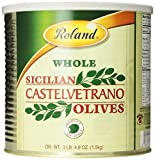 Roland Whole Sicilian Castelvetrano Olives, 52.9 Ounce (Dry Weight) Can