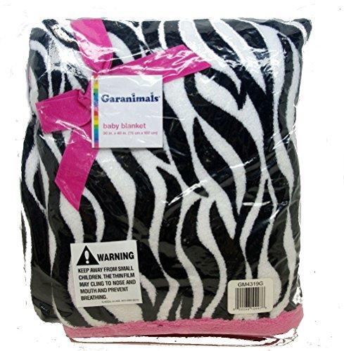 Pink Zebra Baby Blanket front-179982