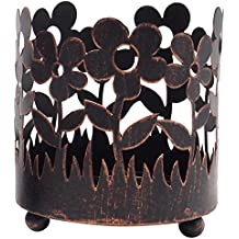 Hosley's 4.5 High Bronze Jar Holder, Candle Sleeve Votive Tea Light Holder. Ideal Gift For Spa, Aromatherapy,...