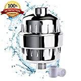 10 Stage Shower Water Filter For Shower Head - by (AQUALINA) Healthy Hair and Skin - Universal High Pressure Output - Removes Chlorine and Water Impurities - Shower Head Softner -