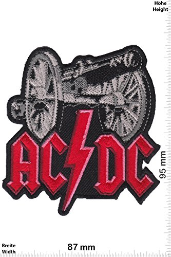 Patch - ACDC - AC DC - cannon - Musicpatch - Rock - Vest - Chaleco - toppa - applicazione - Ricamato termo-adesivo - Give Away