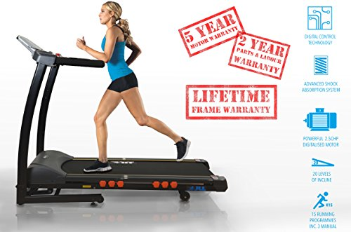 JLL® S300 digital treadmill, Two man delivery included, 20 Auto incline, digital...