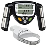 51JzRTyN5wL. SL160  Omron HBF 306C BodyLogic Pro Hand Held Body Fat Monitor Black with MT05 MyoTape Body Tape