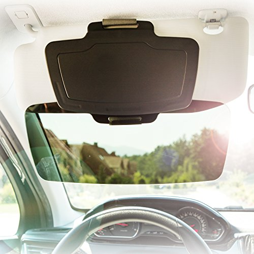 Car Sun Visor Extender by SUNSET - Front & Side Window Sun Shield & Shade for Cars, Trucks & SUVs - 100% UV Protection - Auto Anti-Glare - Reduces Eye Fatigue, Sun Glare - Fully Adjustable (Car Side Window Sun Visor compare prices)