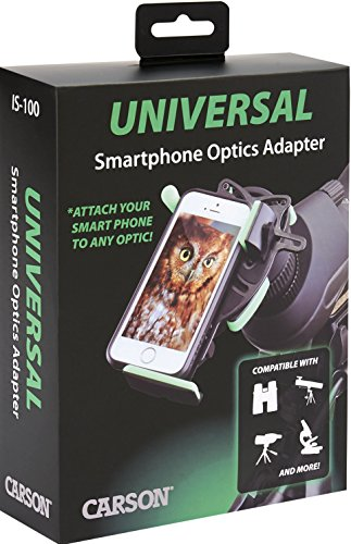 Carson-HookUpz-Universal-Smart-Phone-Optics-Digiscoping-Adapter-For-Binoculars-Spotting-Scopes-Monoculars-Telescopes-Microscopes-and-More-IS-100