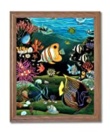 Tropical Ocean Fish Exotic Coral Reef Animal Wildlife Home Decor Wall Picture Oak Framed Art Print