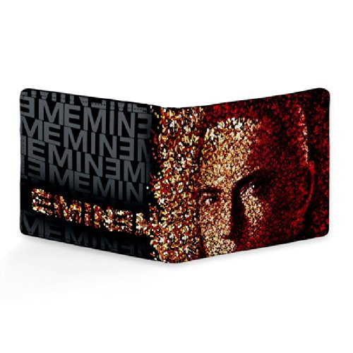 Bluegape Eminem Rap God Leather Wallet for Men
