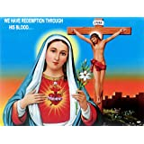 "Dolls Of India ""Mother Mary"" Reprint On Paper - Unframed (29.21 X 22.86 Centimeters)"