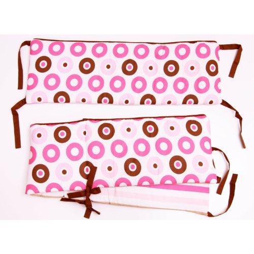 Mod Dots/str Pink/Choc Bumper Pad