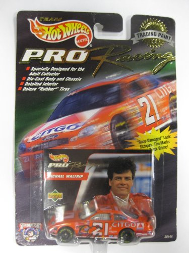 "1998 Team HOT WHEELS - PRO RACING - Collectible edition "" TRADING PAINT "" -- MICHAEL WALTRIP - #21 CITGO"