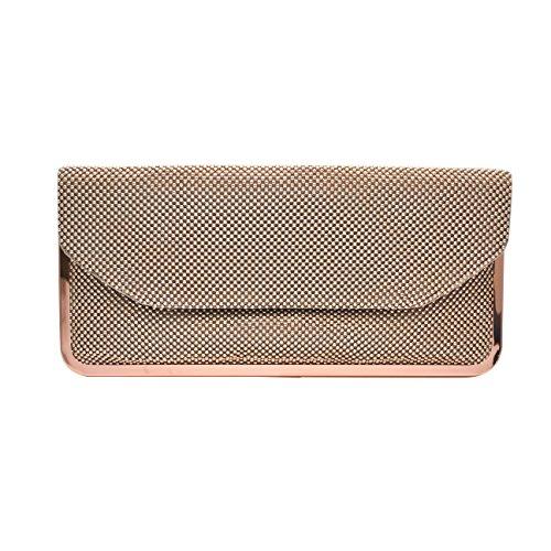 la-regale-womens-mesh-envelope-clutch-rosegold