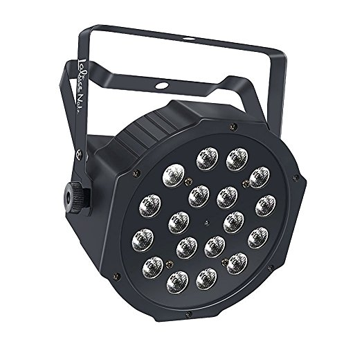 LaluceNatz 18LED Par Lights for Stage Lighting with RGB Magic Effect by Remote Control and DMX512 (Stage Light Mixer compare prices)