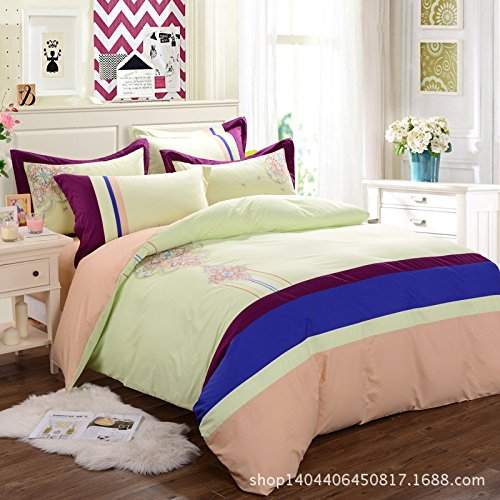 Nordic High-End Embroidery Textile Bedding Sets 4Pc Bed Sheet Set Cotton Reactive front-891980