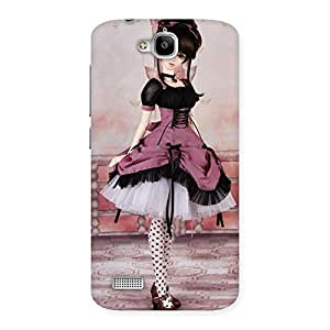 Delighted Cute Dancing Girl Multicolor Back Case Cover for Honor Holly