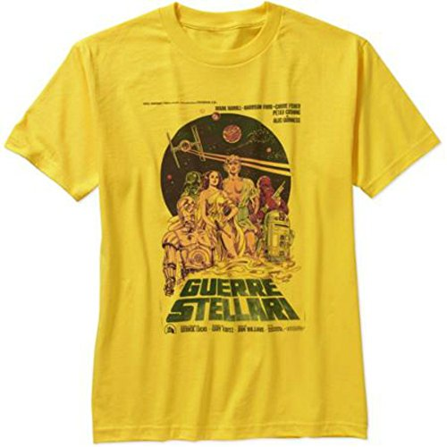 Star wars vintage italian movie poster t shirt for men for Vintage star wars t shirts men