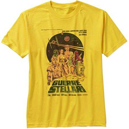 Star Wars Vintage Italian Movie Poster T-Shirt For Men 0