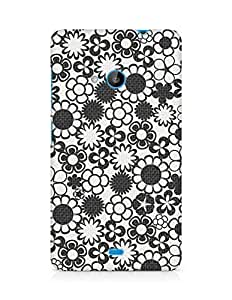 Amez designer printed 3d premium high quality back case cover for Microsoft Lumia 535 (Pattern 9)