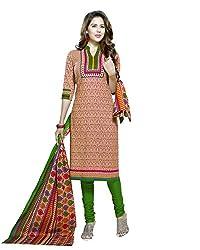 Neerja creation womens cotton Unstiched Dress material(K-2009_Orange)