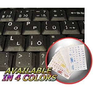 NORWEGIAN KEYBOARD STICKERS WITH BLUE LETTERING ON TRANSPARENT BACKGROUND FOR DESKTOP LAPTOP AND NOTEBOOK