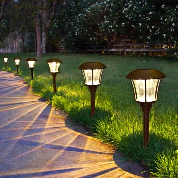 solar led pathway lights 8 pack home garden lighting landscape. Black Bedroom Furniture Sets. Home Design Ideas