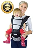 Nimnyk Baby Sling Carrier Ergonomics Lightweight Hipseat with Lumbar Support, 4 in One Back 2 Front Facing Comfort Positions