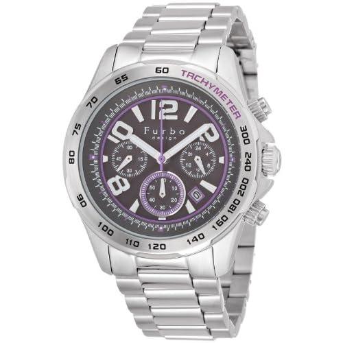 [フルボデザイン]Furbo design 腕時計 FS501SBKEPU ステンレススチール 黒文字盤 ソーラークロノ メンズ FS501SBKPU メンズ