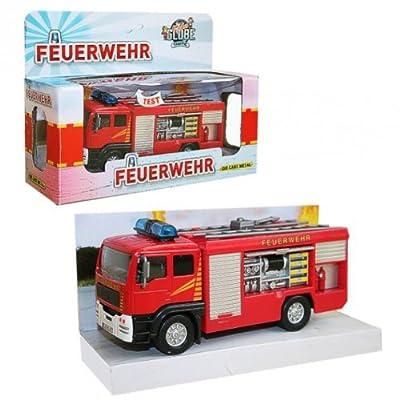 Feuerwehr - Auto Fahrzeug Löschgruppe mit Licht Sound & Rückzug
