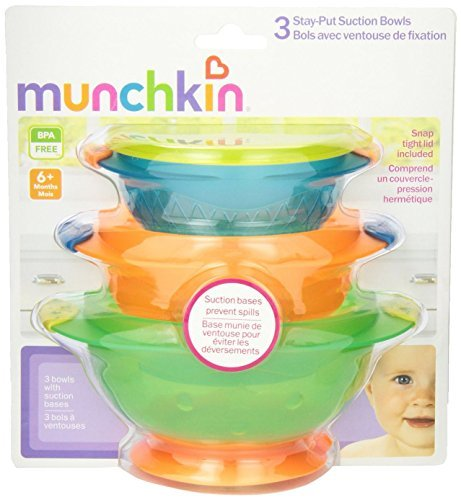 Munchkin Stay Put Suction Bowl, 3 Count (2pk) - 1