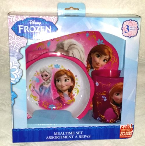 Lowest Prices! Disney Frozen Mealtime Set With Plastic Plate/Bowl and Cup