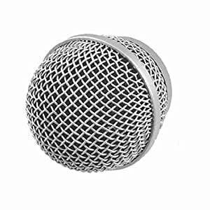 silver tone dynamic mic microphone cartridge element head pg48 musical instruments. Black Bedroom Furniture Sets. Home Design Ideas