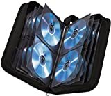 Hama CD Tasche für 120 CDs/DVDs/Blu-rays, Mappe zur Aufbewahrung, schwarz