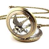 YESURPRISE Die Tribute von Panem - Uhr Anhänger Halskette Spotttölpel Kette Taschenuhr Hunger Games
