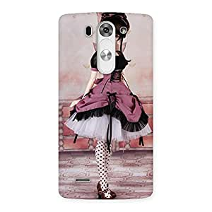 Enticing Cute Dancing Girl Multicolor Back Case Cover for LG G3 Mini