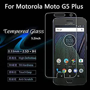 Motorola Moto G5 Plus Tempered Glass With Alcahol Wet Cloth Dry Cloth, Ultra Clear, Free Bubble,Anti Explosion,Pro+ 2.5D Pro Tempered Glass