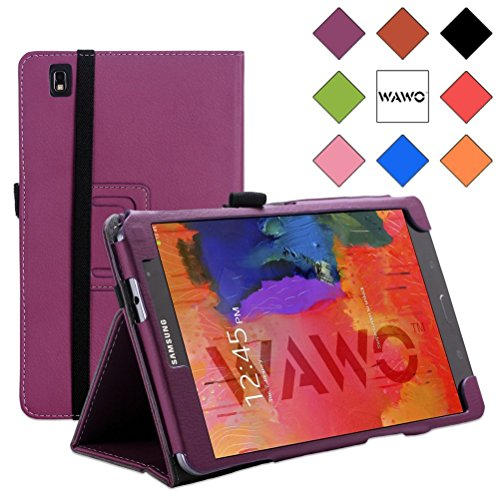 Wawo Creative Smart Cover Folio Case For Samsung Galaxy Tab Pro 8.4 Inch Tablet-Purple