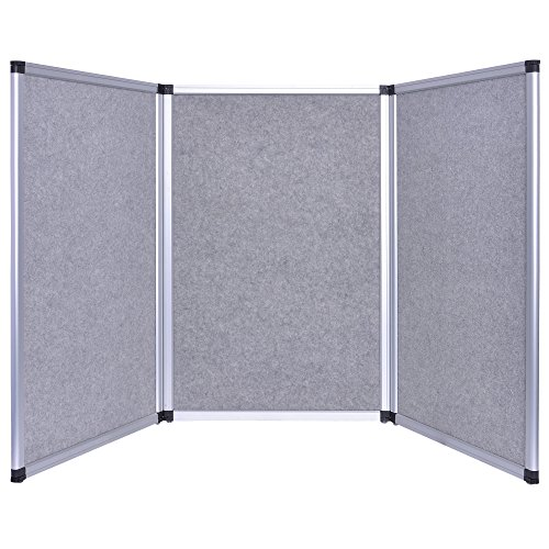 Trade Show Booth Wood Panels : Ft tabletop folding panel gray trade show display