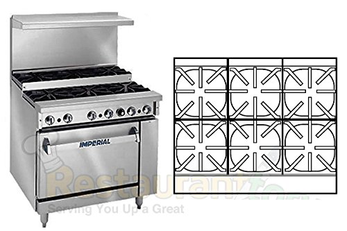 Imperial-Commercial-Restaurant-Range-36-Step-Up-6-Burners-1-Convection-Oven-Natural-Gas-Ir-6-Su-C