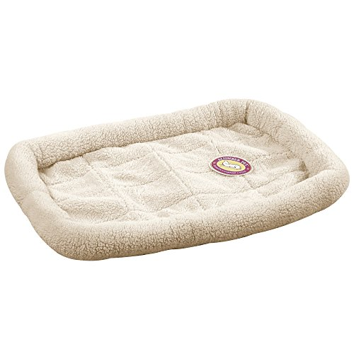 Artikelbild: Slumber Pet Sherpa Crate Beds - Comfortable Bumper-Style Beds for Dogs and Cats - Medium/Large, Natural Beige by Slumber Pet