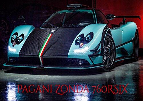 pagani-zonda-760rsjx-luxe-posh-voiture-king-best-couleur-unique-imprime-photo-a4-poster-mural-lamine
